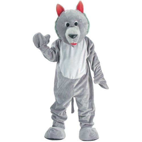 Creative Tween Halloween Costumes (Dress Up America Hungry Wolf Mascot, Grey, One)