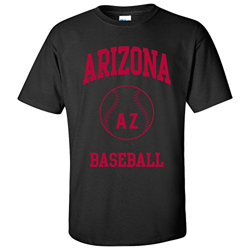 Arizona Classic Baseball Arch Basic Cotton T-Shirt - X-Large - Black