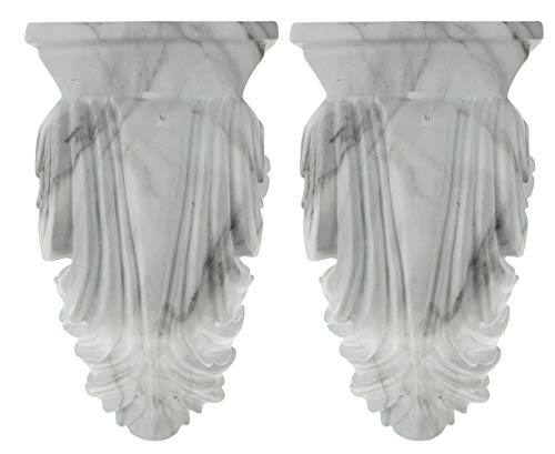 (Urbanest Set of 2 Cameau Drapery Sconce, 2-inch Diameter, White Marble)