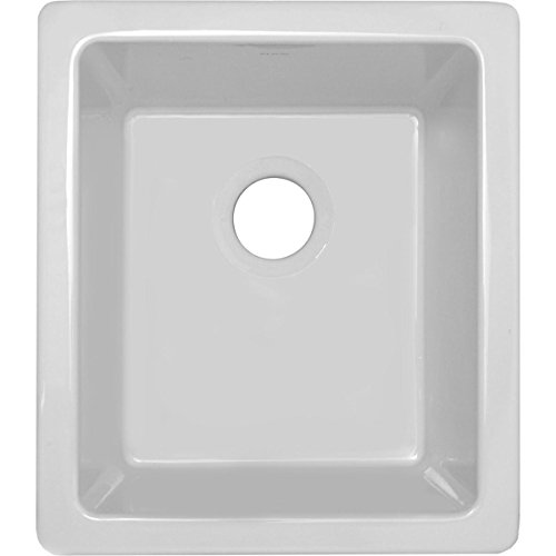 Fireclay Bowl Single (Elkay Fireclay SWU1517WH Single Bowl Undermount Bar Sink)