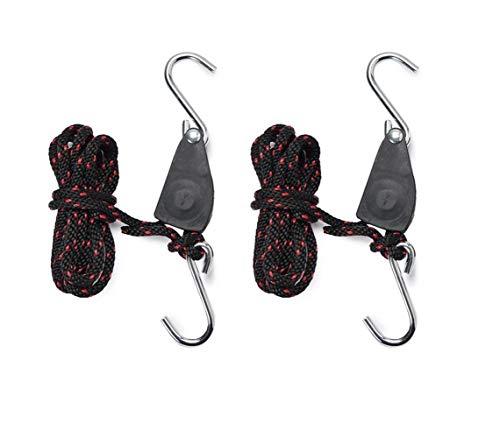 Hyindoor 1 Pair Grow Light Rope Hangers Heavy Duty Adjustable Reflector Gears (1/4