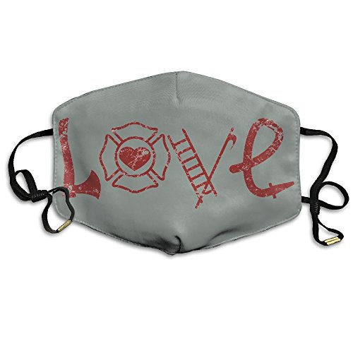 Unisex Love Axe Firefighter Reusable Anti Dust Breathable