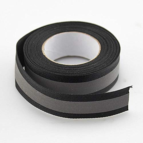 (Hakazhi Inc Reflective Fabric Tape Highlight Reflective Webbing Ribbon 20mm10mm(W) Sew On (3 Meters/lot) (Black))