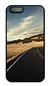 Large Road Cover Case Skin for iPhone 5 5S Hard PC Black by mcsharks