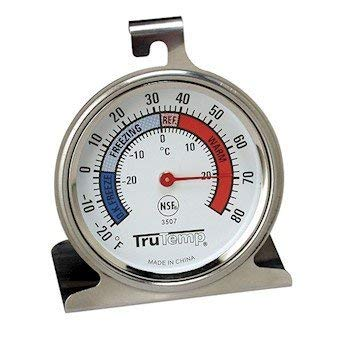 - Taylor 3507 TruTemp Refrigerator/Freezer Analog Dial Thermometer with Safety Zones