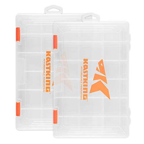 - KastKing Tackle Boxes, Plastic Box, Plastic Storage Organizer Box with Removable Dividers - Fishing Tackle Storage - Box Organizer - 2 Packs /4 Packs Tackle Trays - Parts Box
