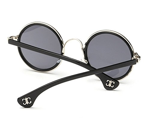 Amazon.com: Retro Ronda anteojos de sol anteojos de sol Para ...