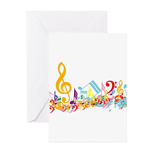 Instrumental Pack - CafePress - Colorful Musical Notes - Greeting Card (20-pack), Note Card with Blank Inside, Birthday Card Matte
