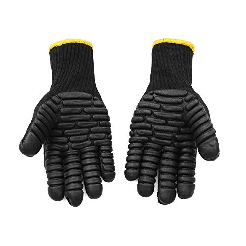 Anti Vibration Work Gloves, Shock Proof Impact Reducing Safety Gloves.