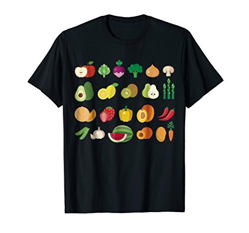California Agriculture Produce Fruits Vegetables T Shirt (One Fresno Apple)