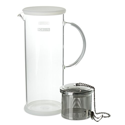 FORLIFE LUCENT Glass Iced Tea Jug with Capsule Infuser, 48-Ounce, Frost by FORLIFE (Image #1)