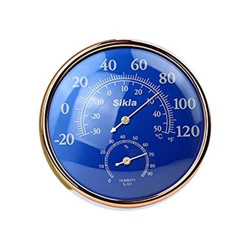 Libertroy 3 in 1 Funzioni Meccanismo con barometro con termometro altimetro Meccanico con moschettone Attrezzo Esterno per lescursione in Campeggio Blu