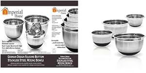 DDI 1489147 4pc German Mixing Bowl Silicone Bottom Case Of 6