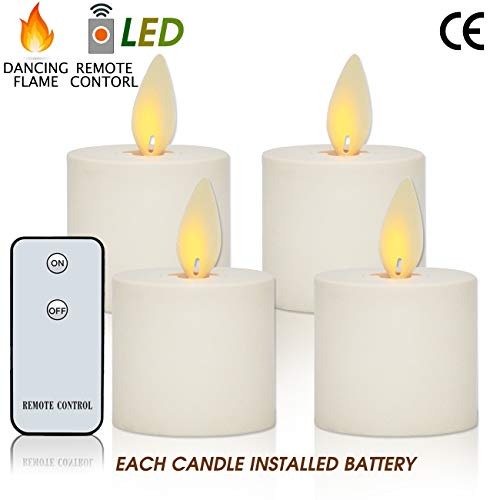 Flameless Candles Flickering Tea Light Candles LED Dancing Flame Battery Operated Tealights Candles with Remote Control