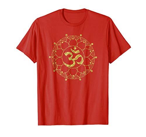 Sacred Gold Mandala Om | Spiritual Yoga Lover Gift Z000025