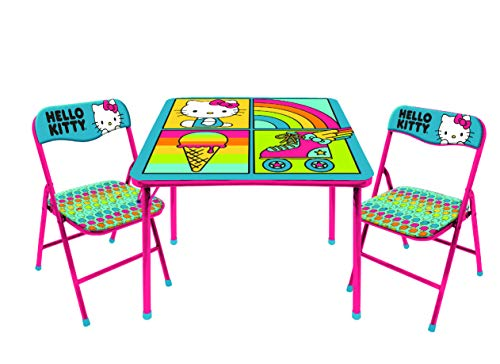 SANRIO Hello Kitty 3Piece Table & Chair Set (Hello Kitty Office Chair)