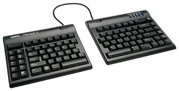 kinesisfreestyle2 partido en disposición de teclado, botón de QWERTZ, ...