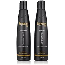 Revivogen MD Bio Cleansing Shampoo & Thickening Conditioner Duo Set for fine, thinning hair create volume, cleanse DHT, nourish scalp for healthier hair growth & 2 bottles, 12 oz. each