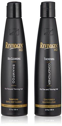 Revivogen MD Bio - Juego de champú y acondicionador grueso para cabello fino, adelgazante para crear volumen, limpiar DHT,...