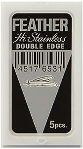 FEATHER Double-Edge Razor Made in Japan w/ Almond Glycerin Shaving Soap
