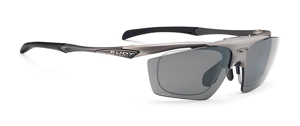 RUDY PROJECT(ルディプロジェクト) 跳ね上げ式 はねあげ クリップオン ロードバイク スポーツサングラス サイクリング 自転車 フィット感 調整可能 スポーツ眼鏡 インパルス フリップアップ スチールベルベット/ポラール3FXグレイレーザー 0134SP345928X