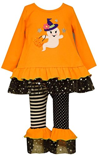 Bonnie Baby Baby Girls' Halloween Appliqued Legging Set, Happy Ghost, 12 Months