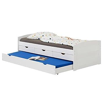 idimex lit gigogne jessy lit enfant fonctionnel avec tiroir lit et rangements 3 tiroirs - Lit Enfant Avec Tiroir