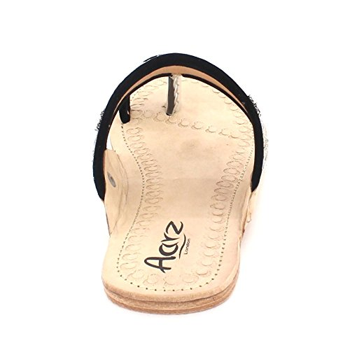 Chappal Femmes Authentique Dames D Kolhapuri Cuir post Toe U8U47q