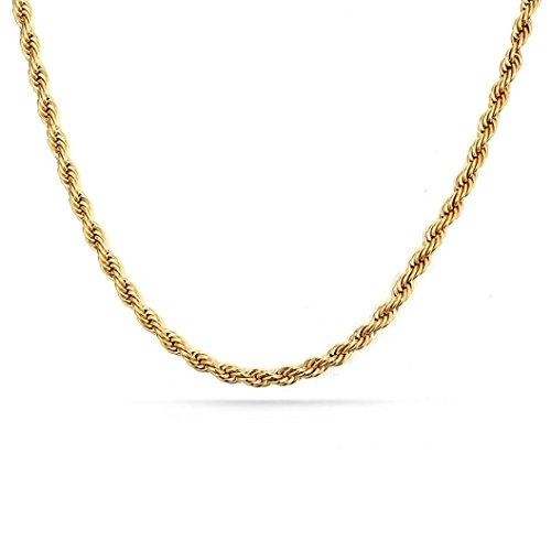 ecklace,Leewos Women Gold Stainless Steel Link Copper Fashion Chain Jewelry Gift (Gold, 76) ()