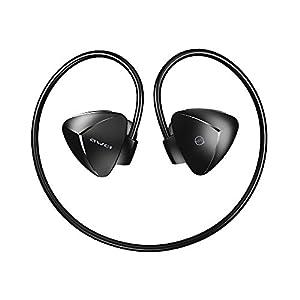 AWEI A840BL Active Noise Cancelling Wireless Bluetooth Headphones Earphones, Sports Wireless Headphones Sweatproof, Waterproof level IPX4, Stereo Earphones for Running,Sports -Black