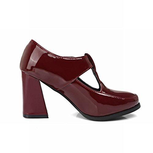 Women's Heel Wine Red Buckle Block Carolbar Ankle Chic Boots AdqAZ