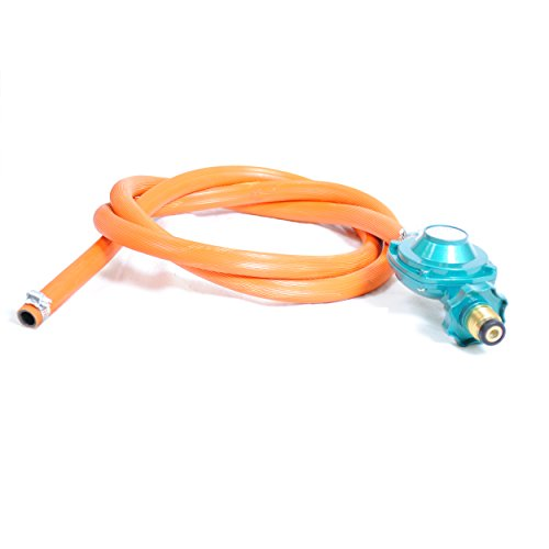 Gas One 2102 New Improved 6 ft Low Pressure Propane Regulator and Hose Connection Kit for LP/LPG Most LP/LPG Gas Grill, Heater and Fire Pit Table (Low Pressure Propane Burner)
