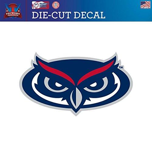 Fau Owls (Florida Atlantic University FAU Owls Die-Cut Vinyl Decal Logo 2 (Approx 6x6))