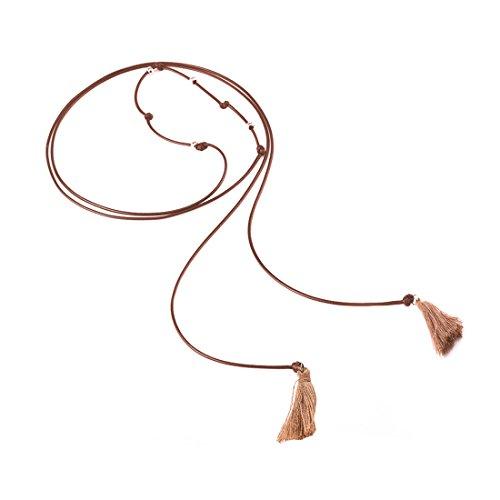Collier de Set Choker extensibles de tour classique de Mesdames de cuir Crystal Denim pendentif maille