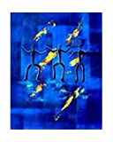 Africa People Dance Canvas Handmade Wall Art Oil Painting - 60x90