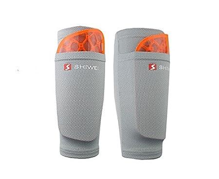 Espinilleras para las piernas de fútbol, almohadillas de doble capa fija, para adultos y adolescentes: Amazon.es: Deportes y aire libre