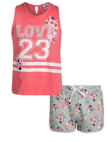 Real Love Girls' 2-Piece French Terry Short Set