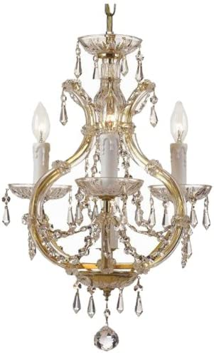 Crystorama 12 Light Crystal Silver Chandelier in the