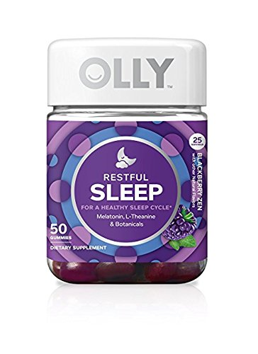 OLLY Restful Sleep Gummy Supplement, with MELATONIN & L-Theanine, Chamomile; supports