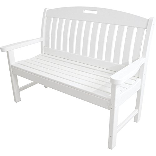 "Hanover Avalon 48"" All-Weather Bench White HVNB48WH"