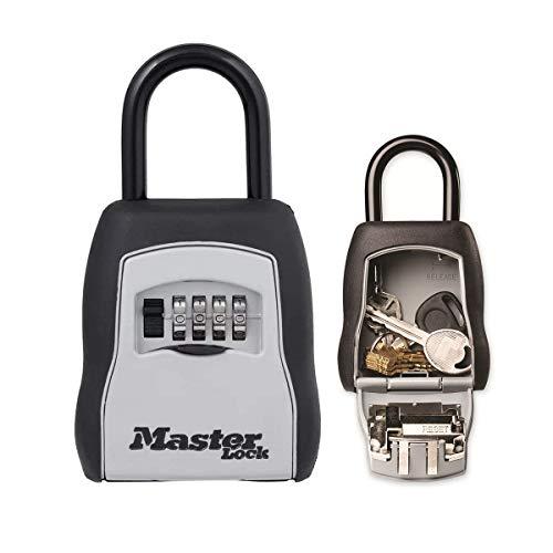 MASTER LOCK Portable Key Safe [Medium size] [Outdoor] – 5400EURD – Key Lock Box with shackle
