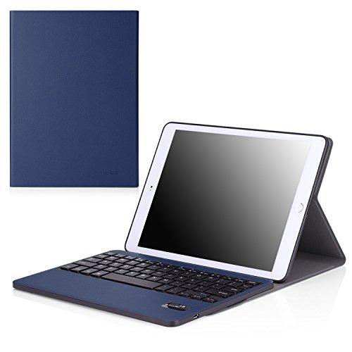 MoKo Keyboard Case for Apple iPad Air 2 (iPad 6) - Wireless Keyboard Cover Case for Apple iPad Air 2 (iPad 6) 9.7 Inch iOS 8 Tablet, INDIGO by MoKo