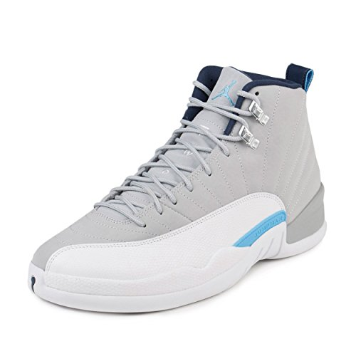 Air Jordan 12 Retro UNC University North Carolina xii Men Lifestyle Sneakers Wolf Grey