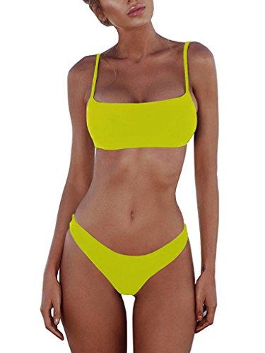 Yellow Thong Bikini Set in Australia - 2