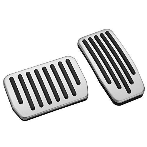 Seven Sparta Non-Slip Performance Pedal Pads for Tesla Model 3, Aluminum Foot Pedal Covers