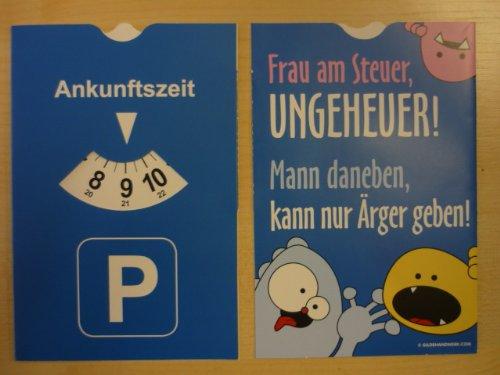 Gilde Fun Parkscheibe Parkuhr Mit Spruch Frau Am Steuer