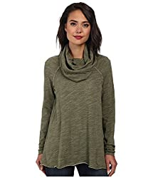 Free People Women's Cocoon Cowl Pullover Army X-smallsmall