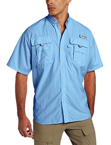 Columbia Men's PFG Bahama II Short Sleeve Shirt, Yacht, Large