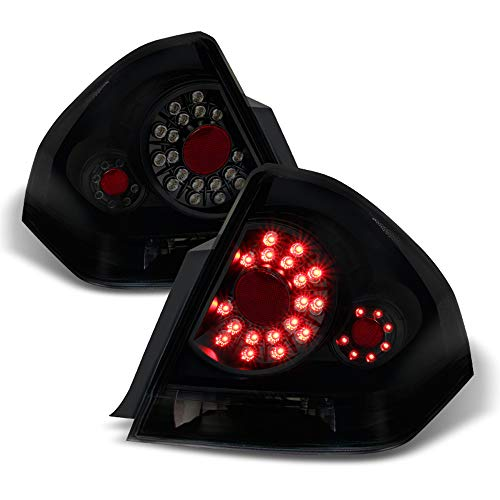 ACANII - For Black Smoked 2006-2013 Chevy Impala LED Tail Lights Brake Lamps Left+Right 06-13