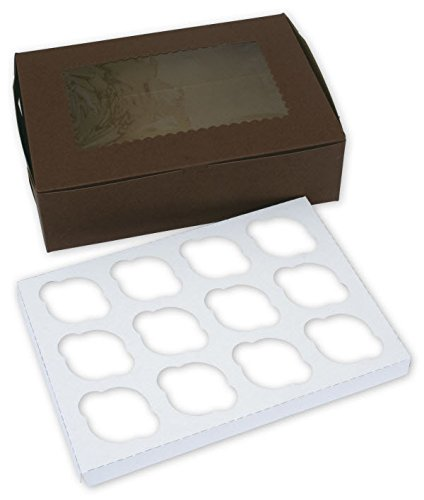EGP Windowed Standard Cupcake Boxes 12 (Windowed Cupcake Box)